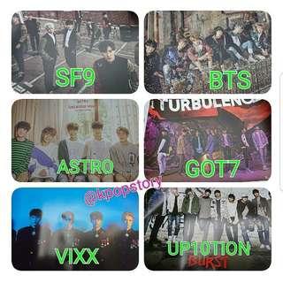 BTS, ASTRO, SF9, GOT7, VIXX, UP10TION 全新韓版海報