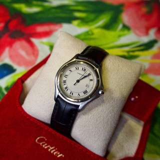 Cartier Cougar with 18k gold yellow bezel