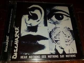 Music CD: Discharge–Hear Nothing See Nothing Say Nothing - UK Hardcore / Punk