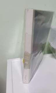 Clear folder - 40 pockets