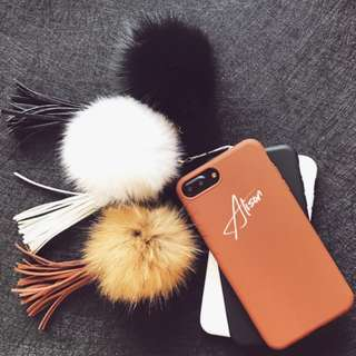 Customise Name Furball and Tassel Soft Phone Case