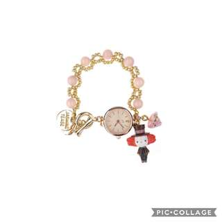 Handmade watch from japanese clay - Alice wonderland theme