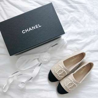 CHANEL Pearl Espadrilles