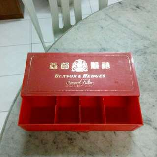 Benson & Hedges B&H Cigarettes Plastic Box With Drawers Vintage