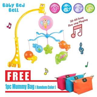 Baby kid crib bed bell