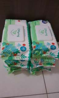Offspring Plant-Based Baby Wipes 80 wipes x 6 packs