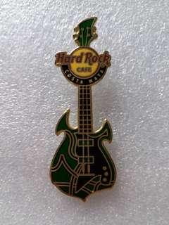 Hard Rock Cafe Pins ~ COSTA MAYA HOT & RARE 2013 GREEN GUITAR WITH BLACK SCRATCH PLATE!