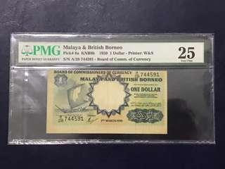 Malaya & British Borneo $1 printing error 😍😍😍