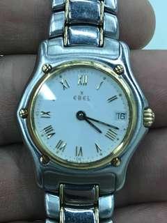 Ebel 1911 女裝18K/龬電子手錶