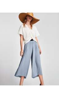 Zara pleated trousers/culottes/pants