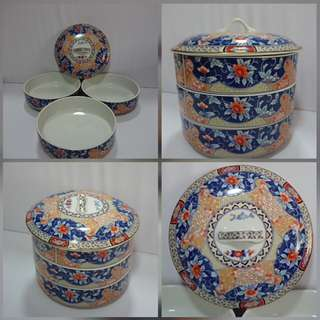 Japanese Made 3 Tiers Ceramics Candy Tray.