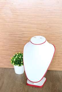 Accesories holder WHITE Leather