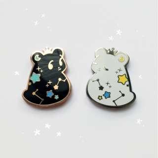 wish bear enamel pin