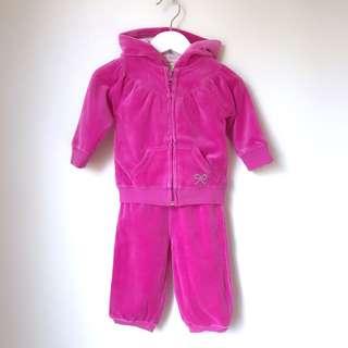 Cotton On baby girls velvet sports sets size 00