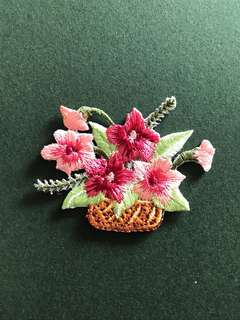Bn flower bouquet iron on patch