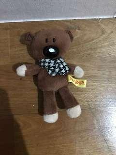 豆豆先生泰迪熊 吊飾 童年