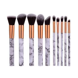 10 Pcs Marble Make Up Brush
