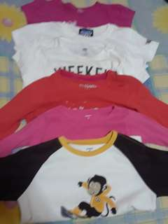T shirts and long sleeves for kids 4-5yrs old