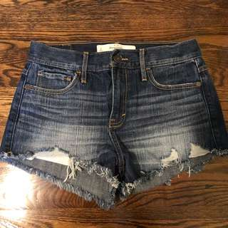 Abercrombie high-rise shorts