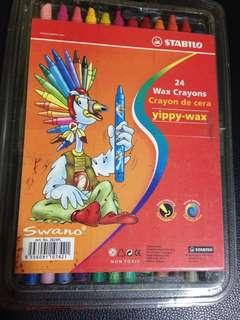 Stabilo 24 wax crayons