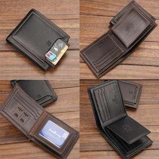 Dompet Pria Pendek Kulit Premium Murah Keren Wallet Card Holder Tempat Kartu Bisnis Cowok Baellerry
