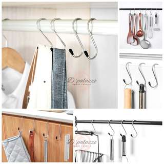 S Shape Stainless Steel Hook Hanger hook S Style Clasp 4 per pack Kitchen tools