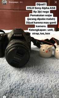 Camera DSLR Sony Alpha A58