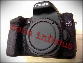 kamera canon eos 70D wifi body only murmer