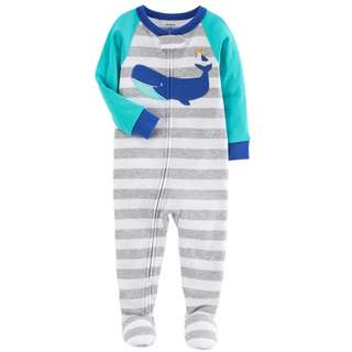 BN 12m/18m/24m Carters footed PJ play and sleep Whale