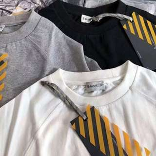 Off white x moncler tee in 3 colors