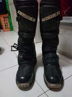 answer racing motocross/mx boots
