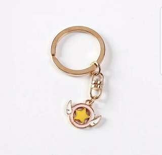 百變魔卡少女鑰匙圈小櫻庫星星鳥頭杖卡通鑰匙扣 背包挂件小禮品
