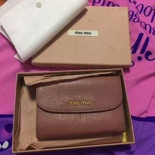 Authentic miumiu wallet