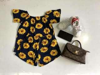 Sunflower Off- shoulder with short