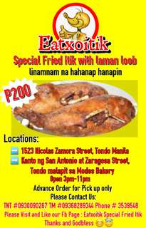 Exoitik Food Special Fried Itik