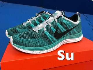Nike flyknit Lunarlon 湖水綠
