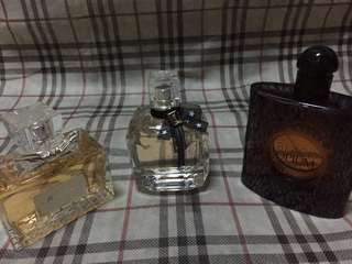 All authentic perfumes bundle 80-90% full just stored barely used