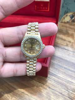 Rolex DayDate 18k Solid YG Pave Diamonds