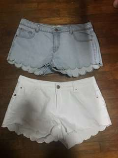 Cotton On scallop shorts