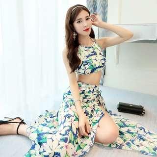 🚚 泰國峇里島遮肉長裙泳衣