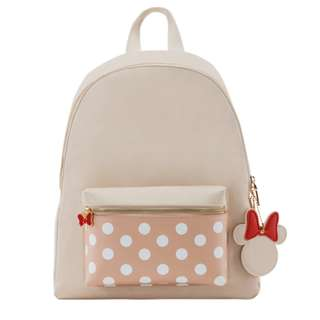 Minnie Charm Front Pocket Backpack