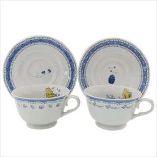 日本製 小熊維尼 茶杯 碟 套裝