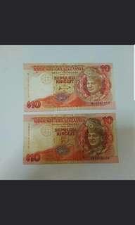 Malaysian $10 Ringgit note