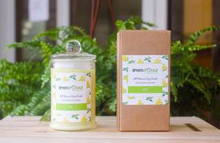 Lemon Verbena Scented Soy Candle 175ml