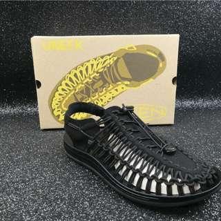 KEEN科恩UNEEK 夏季涉水鞋 透氣涼鞋 純黑色