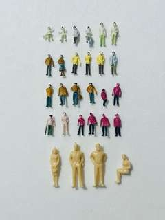 Architectural scaled models - figures.