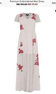 Zalora Premium Embroidered Maxi Dress