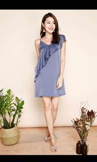 BN Cay ruffle slip dress