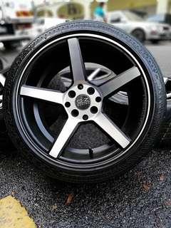 Vossen cv3 sports rim satria neo 16 inch tyre 70%. *below market price*