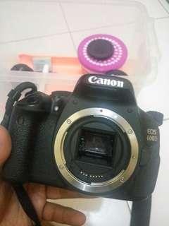 Canon 600D + lensa 50mm + lensa 55-250mm